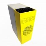 Kompaktgehäuse für Netzteil mit Kühlkörper