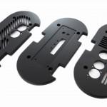 Front- und Rückplatte für Stranggußgehäuse eloxiert